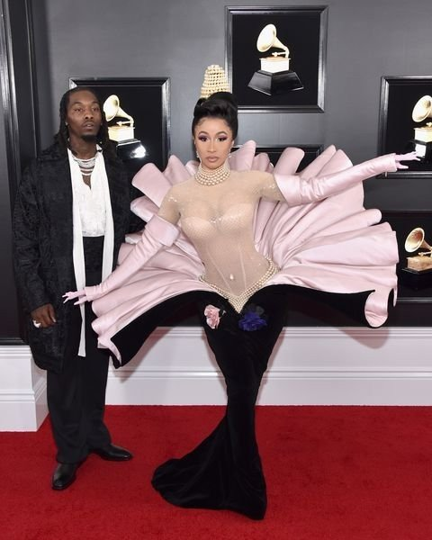 offset of migos and cardi b attend the 61st annual grammy news photo 1097526730 15498472471794780272 - All Grammys 2019 Red Carpet Celebrity Dresses & Looks (Photos)