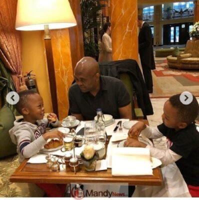8907275 screenshot201903021351271551531495663 jpeg1dbd211896727758f7f1a4e6236a3f25 - Tony Elumelu Having Breakfast With His Twin Boys (Photos)