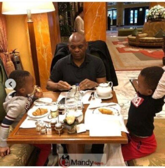 8907277_screenshot201903021351441551531461009_jpeg9e9e1dfabbe3a93cec02de130e753e4c Tony Elumelu Having Breakfast With His Twin Boys (Photos)