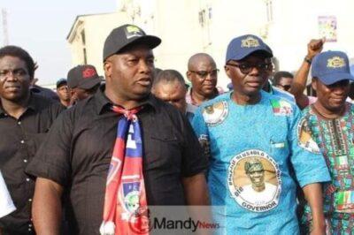 8932118 5326707826204876879663623977212429892321280n jpg132ec6b06e24054c5d41b9f75cea479f - Ifeanyi Uba Takes Sanwo-Olu On Campaign Tour In Lagos (Photos)