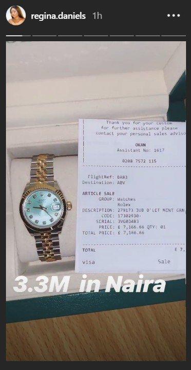 9060151_11_jpegf7f163af78812e58c4d3c47b4e396ae6 Regina Daniels Reveals Off Her Newly Acquired N3.3M Rolex Watch