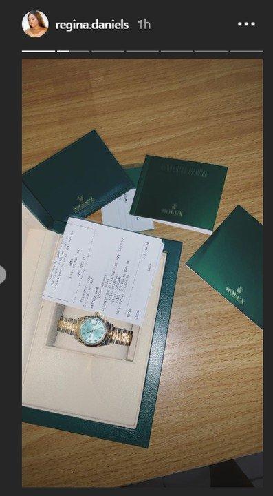 9060152 ghg jpeg8be970fcd65c4956a81513196456f2d2 - Regina Daniels Reveals Off Her Newly Acquired N3.3M Rolex Watch