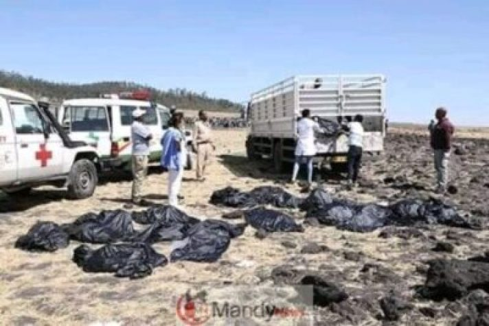 FB_IMG_15522573596548839 Crash site Of Ethiopian Airlines That Killed 157 People (Photos)