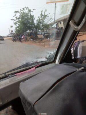 IMG 20190318 154511 - Youths Set PHCN Office Ablaze In Osun Over Blackout (Photos)