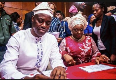 IMG 20190327 192148 534 - INEC Presents Certificates Of Return To Oyo Governor, Seyi Makinde (Pictures)