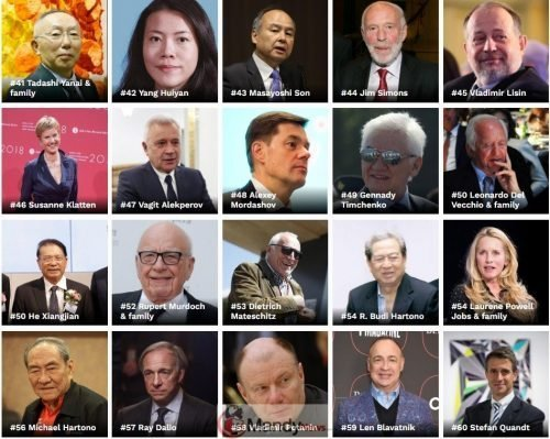 Screenshot 12 - The Richest People In The World For 2019