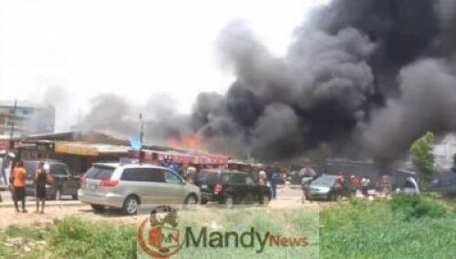 Surulere-Fire-New Fire Breaks Out InSurulere (Video, Photo)