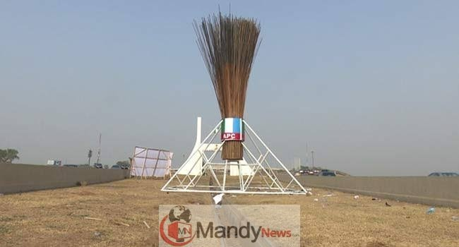 images APC Giant Broom Abuja: Before And Now (Photos)