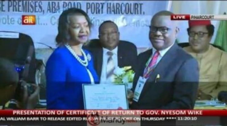 57098924_2187705221316717_6084034153622274048_n INEC Presents Certificates Of Return To Wike, Lawmakers In Rivers.