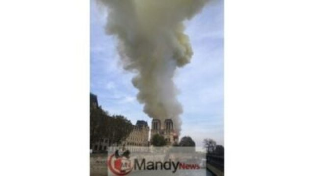 AP19105635397124_1555350915956_82531771_ver1.0_640_360 Fire Breaks Out At Notre-Dame Cathedral In Paris (Photos)