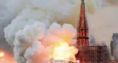 D4Nr4q W4AMrI1b 1024x547 - Fire Breaks Out At Notre-Dame Cathedral In Paris (Photos)