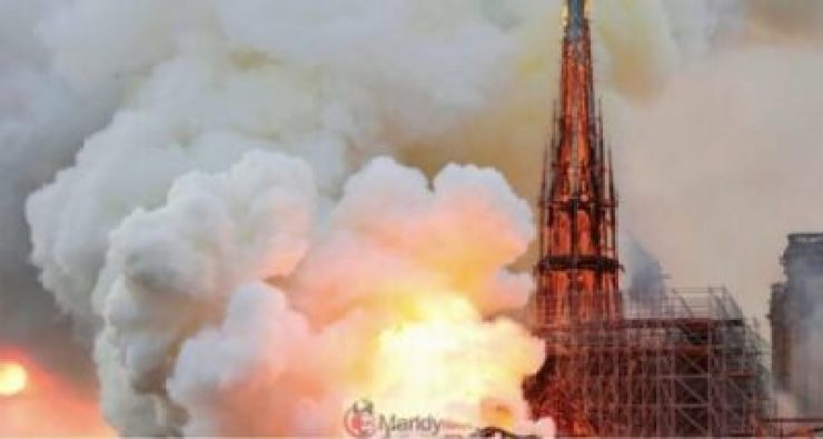 D4Nr4q_W4AMrI1b-1024x547 Fire Breaks Out At Notre-Dame Cathedral In Paris (Photos)