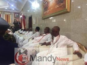 IMG 20190416 142250 - Chief of Army Staff, Lt Gen Tukur Buratai Pays Visit To Olu Of Warri Palace