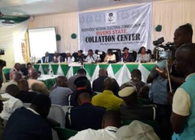 RIVERS-INEC-2-1 INEC Adjourns Collation Of Rivers Governorship Election Outcomes Till Wednesday