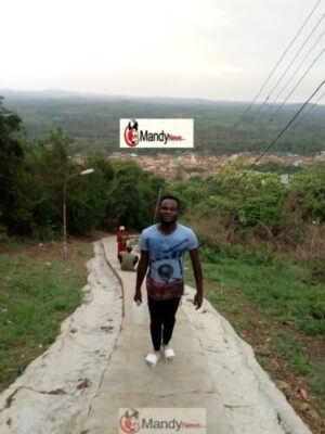 collins weglobe at the mountain - My Visit To Babalola's Tomb, Mountain And River Oni At Efon Alaaye