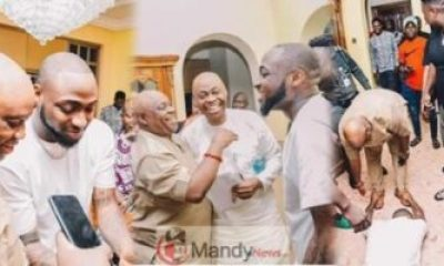 Nigerian singer Davido supporting his uncle Senator Ademola Adeleke