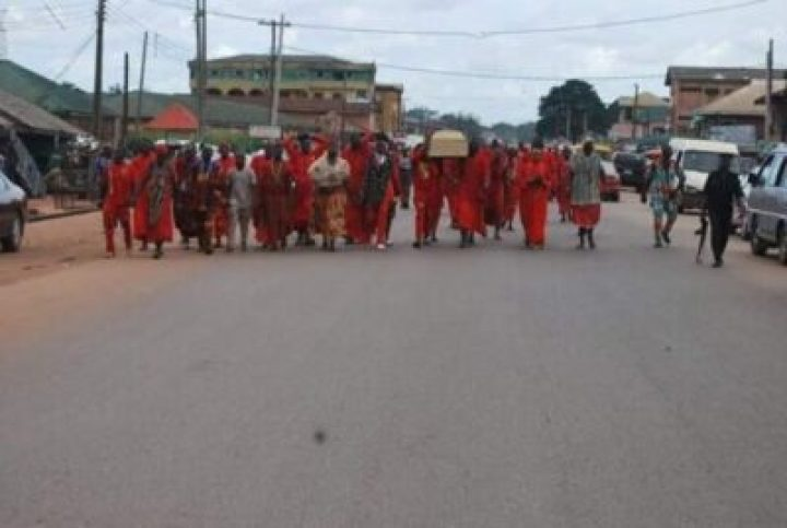 FB_IMG_1558138147273 Benin Traditional Worshippers Embark On Acts Of Purification And Sanctification