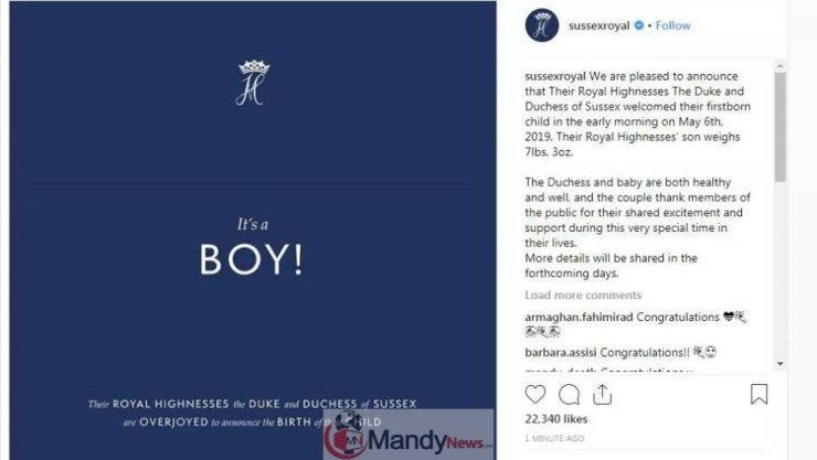 Screenshot_12 Royal Baby: Meghan Markle Gives Birth To A Baby Boy, Prince Harry Announces