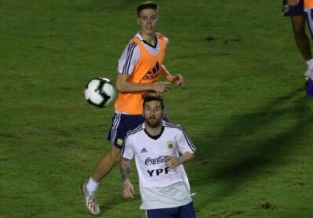 2019-06-13T002217Z_2052003765_RC130BFB5F00_RTRMADP_3_SOCCER-COPA-ARG-PREVIEW Lionel Messi And Argentina Train Before Copa America Opener (Photos, Video)