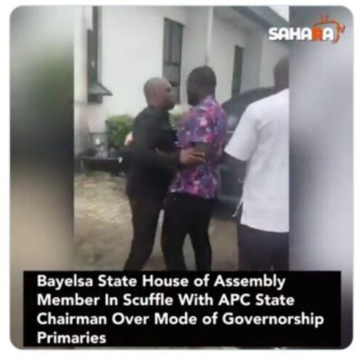 9855405_screenshot201907181727541_jpegb7d45f1b813d1d3f33834a8cc589d917 Lawmaker Fights With Bayelsa APC Chairman Over Mode Of Primaries (Pics)