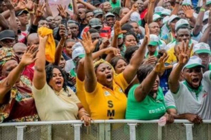 FB_IMG_15628605944403837 Market Women, Labour Groups, Youths, Others Pledge Support For Gov. Obaseki (Photos)