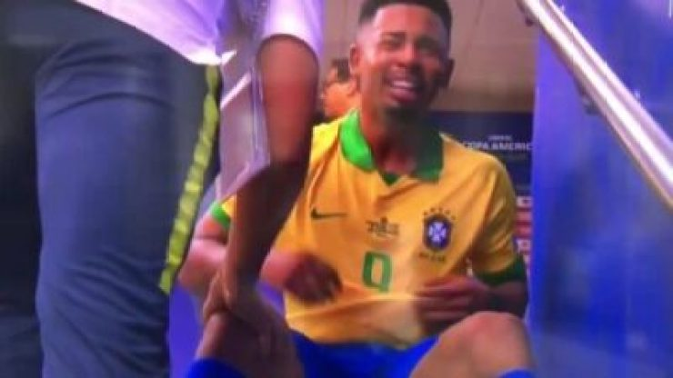 NINTCHDBPICT000503810841 Gabriel Jesus In Tears As He's Sent Off In The #CopaAmerica (Video)