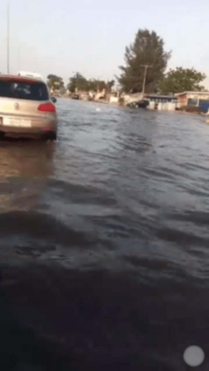 Floods Cause Chaos In Abraham Adesanya After Heavy Rain (Photos,Video)
