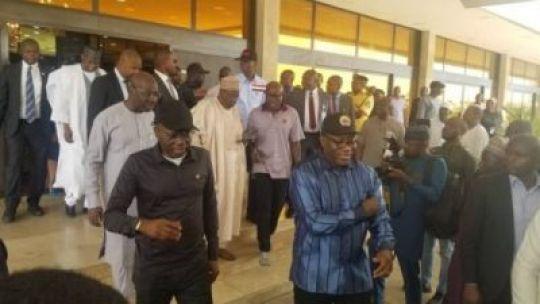 The Governor of Ekiti State, Kayode Fayemi, Executive Governor of Edo State, Godwin Obaseki, Governor of Kano State Governor Abdullahi Umar Ganduje and Governor of Lagos State Babajide Sanwo-Olu