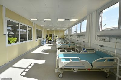 Russia Built ₦42 Billion Hospital For COVID-19 Patients In One Month (Photos)
