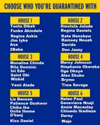 Nigeria Celebrities Quarantine House Choose Your Quarantine House