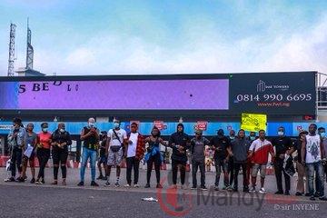 SARS Dissolved: Protests Continue At Lekki Goll Gate (Photos)