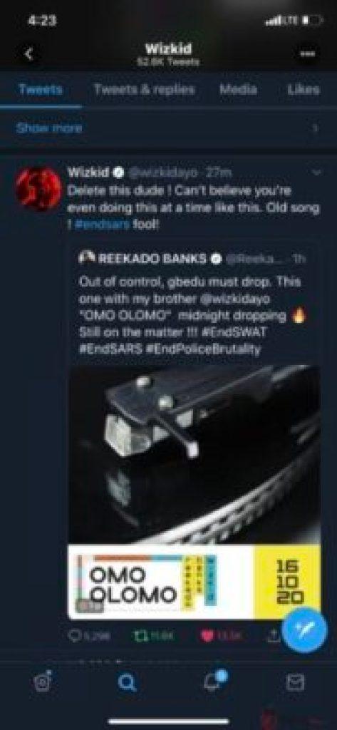 See The Reason Wizkid Calls Reekado Banks A 'Fool'