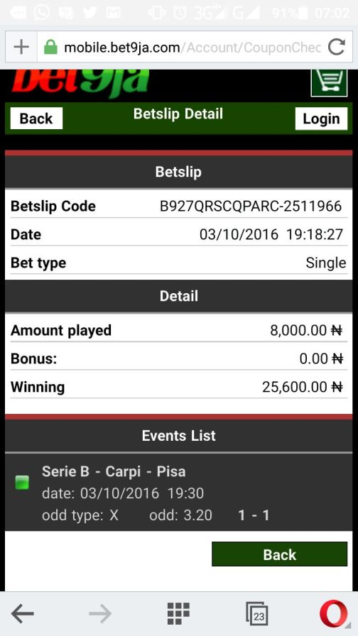 1475580302000_1478346728328 ​Many Won Recently, BET9JA BETTING CODES,Today 30th Mar 2017 Sure Games