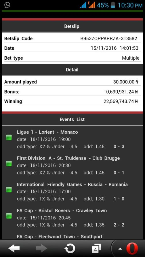 img 20161120 wa0006 - ​Many Won Recently, BET9JA BETTING CODES,Today 30th Mar 2017 Sure Games
