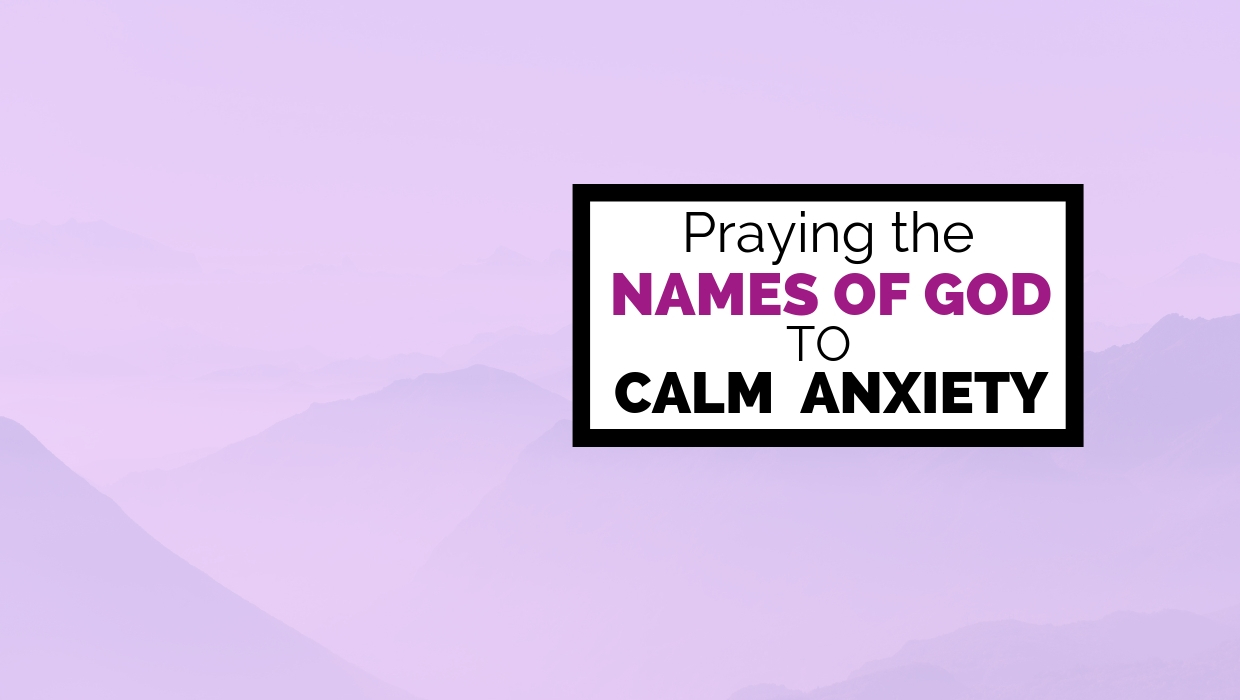 image about Free Printable Names of God named Praying the Names of God in the direction of Tranquil Panic Ahead of Mattress