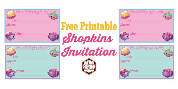 photograph about Shopkins Checklist Printable named shopkins birthday invites printable - Kadil