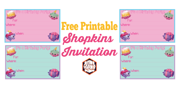 Free Printable Shopkins Birthday Party Invitation | Mandyu0027s Party Printables