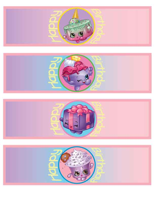 Shopkins Party Printables: Silverware Wraps
