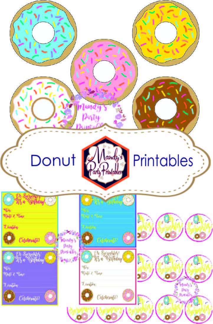Donut Printables Mandy S Party Printables