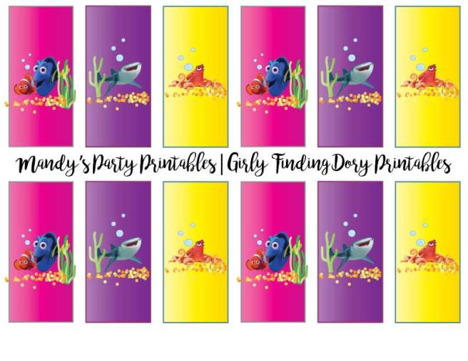 Girly-Finding-Dory-Candy-Bar-Wrappers | Mandy's Party Printables