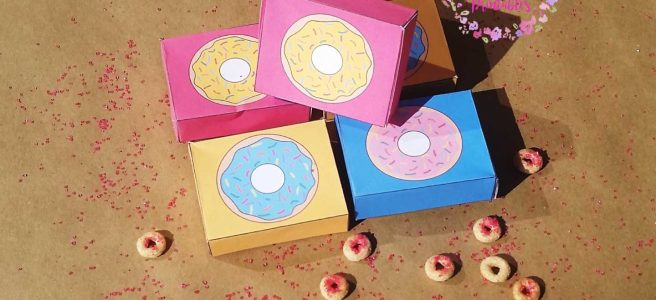 Mini donut boxes--free printables for a donut party or donut birthday party via Mandy's Party Printables | mandyspartyprintables.com