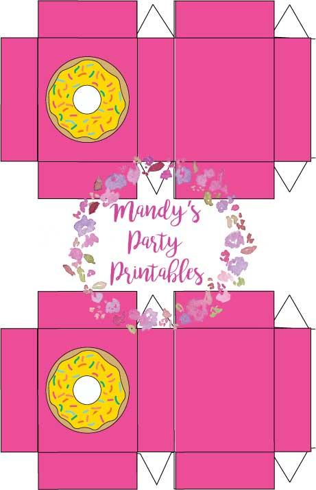 Printable Donut Box Architecture Modern Idea