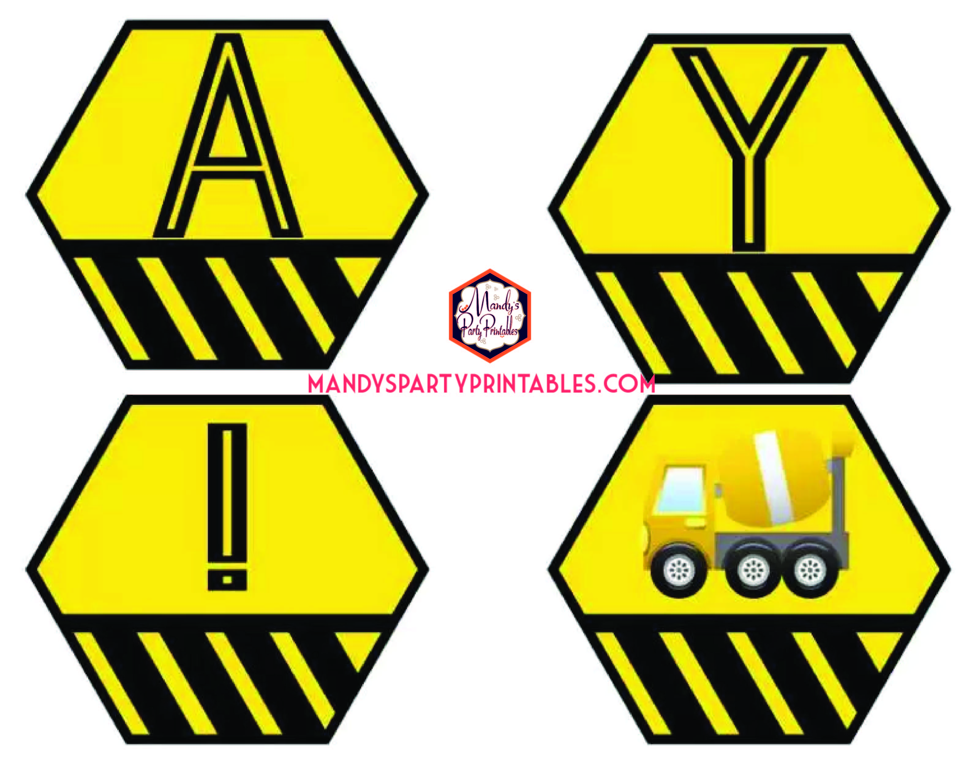 photo about Free Printable Construction Party Signs identify Totally free Framework Occasion Printables