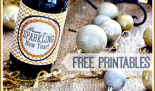 Printable New Year's Eve Collection via Mandy's Party Printables from The 36th Avenue