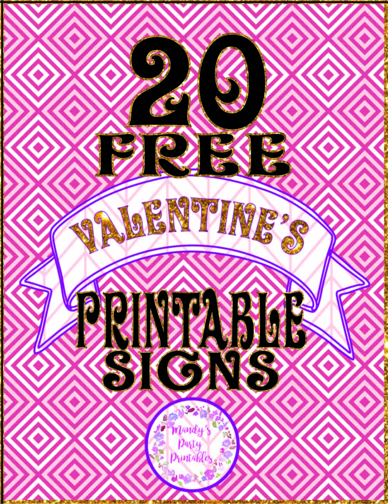 20 Free Printable Valentine Signs