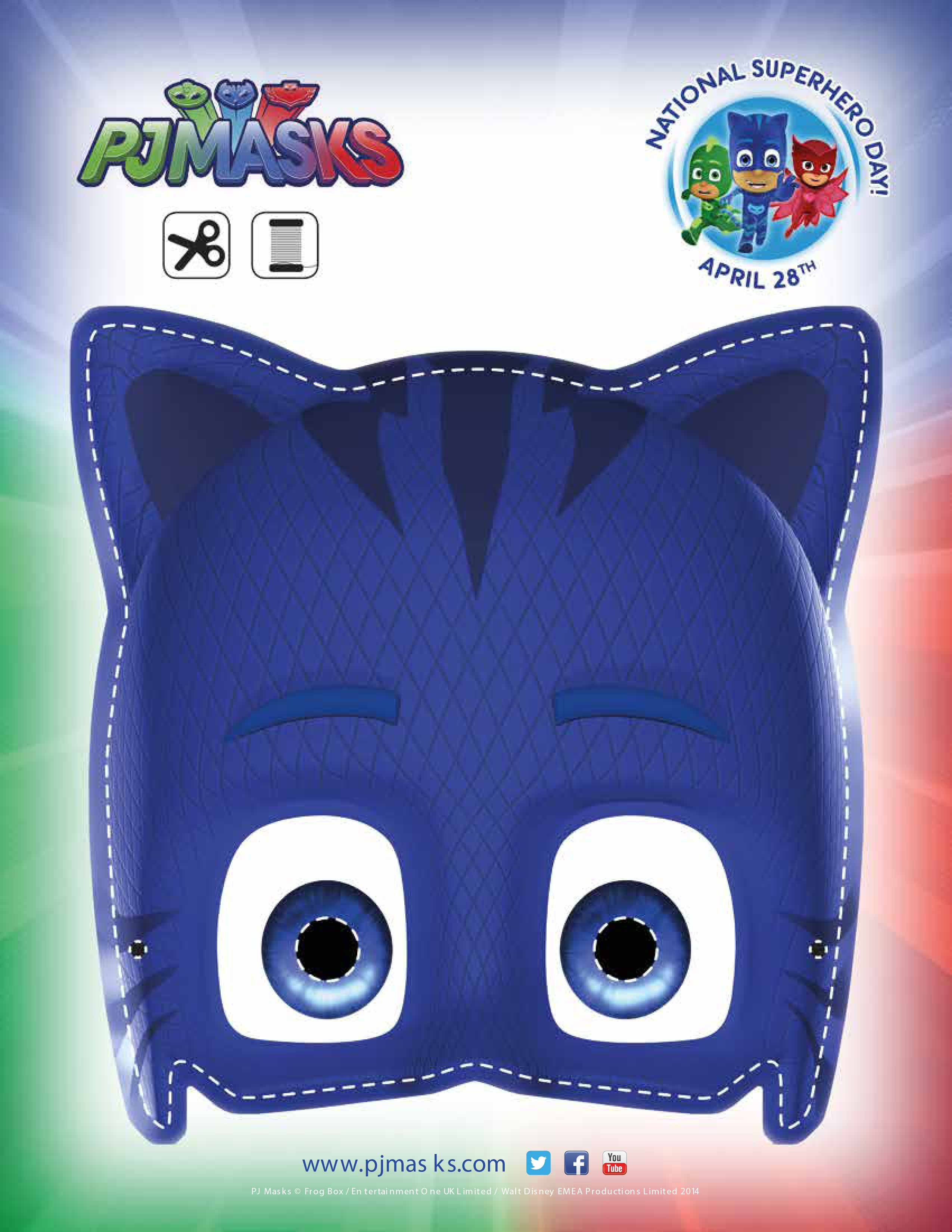 PJ Masks Party Printables Catboy Mask For FREE Via Mandys
