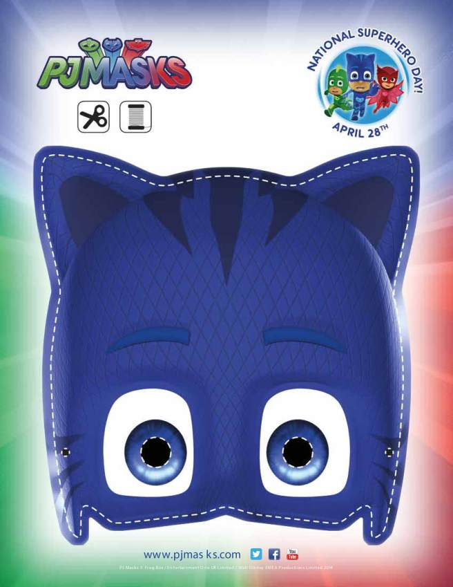 PJ Masks Party Printables Catboy Mask for FREE via Mandy's Party Printables