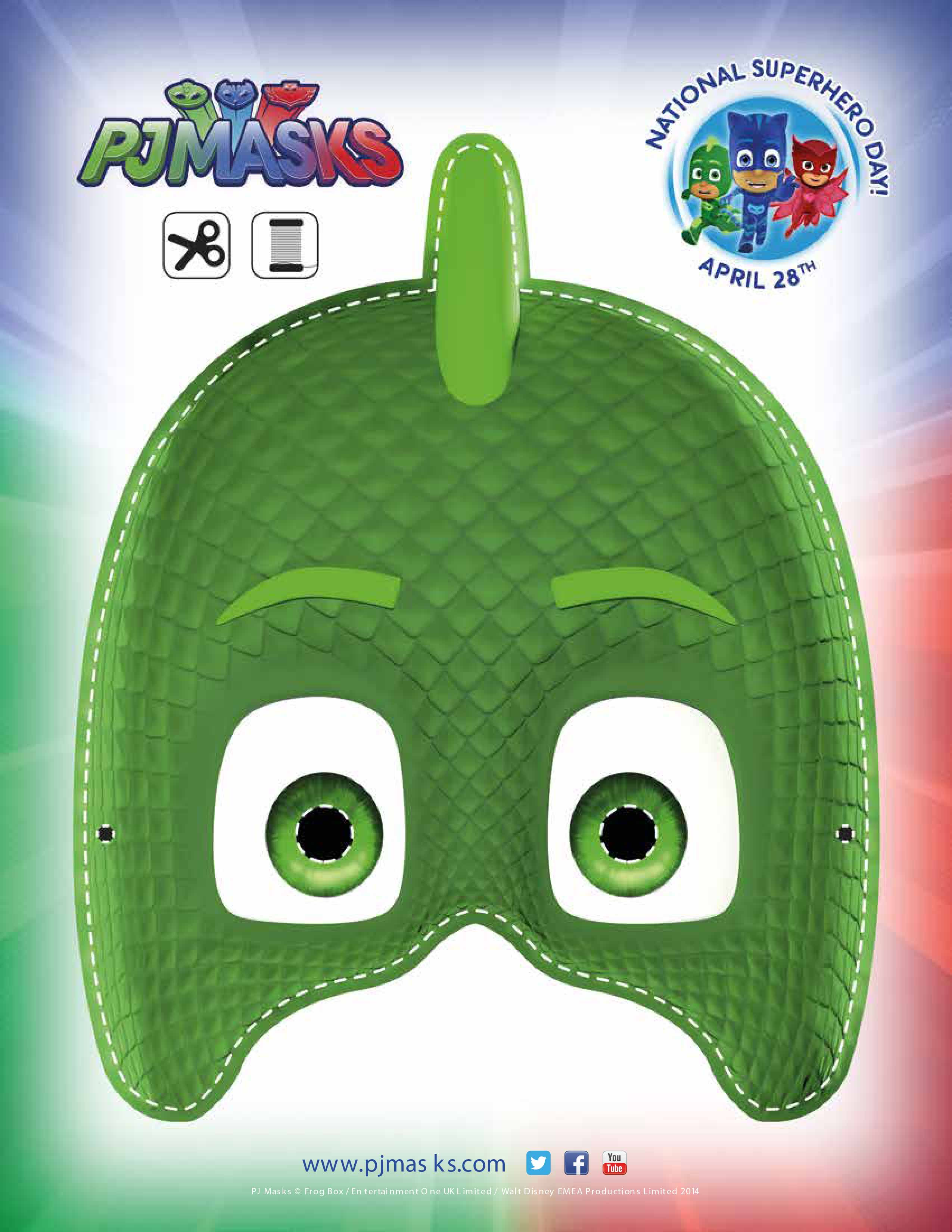 This is an image of Pj Mask Printable Template regarding high resolution