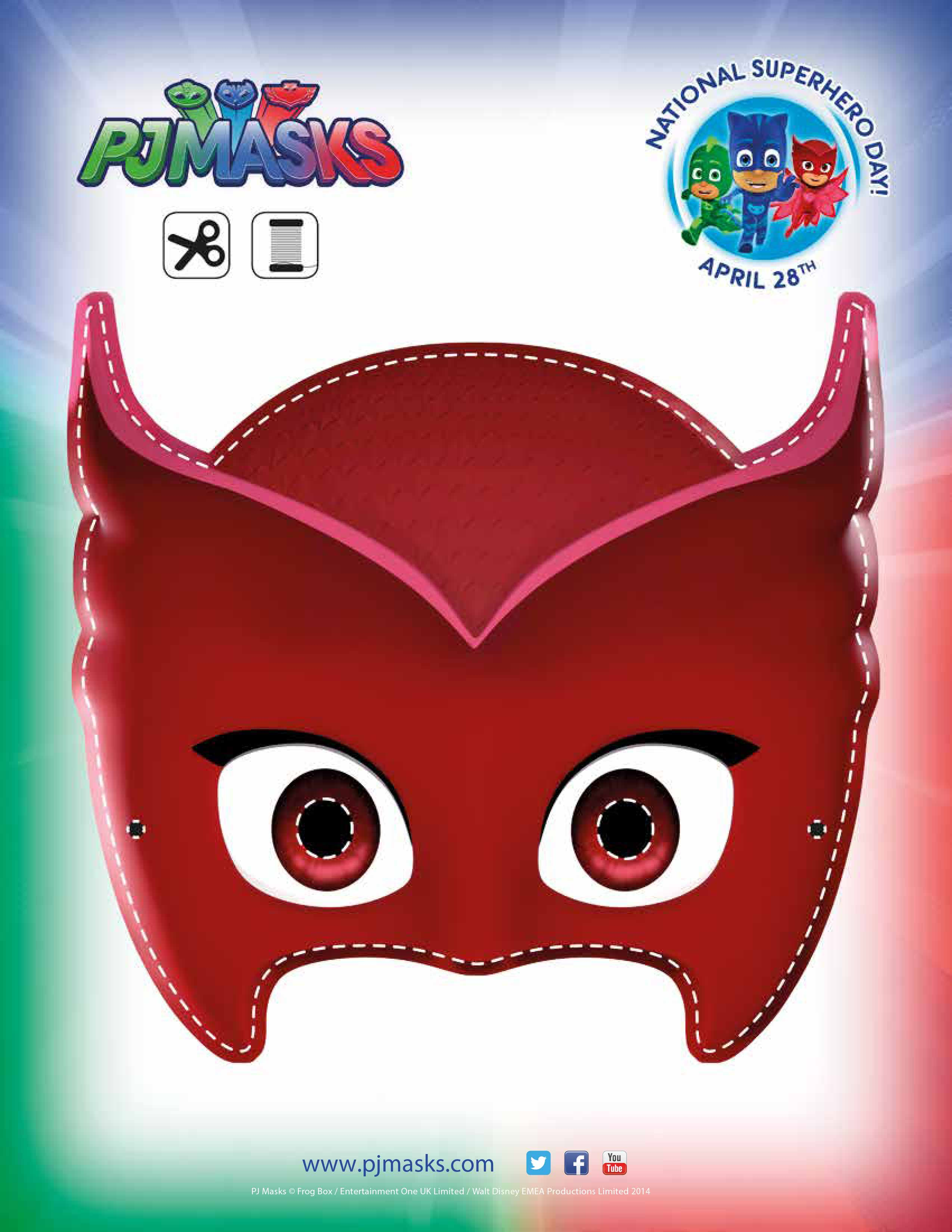Party Printables Owlette Mask