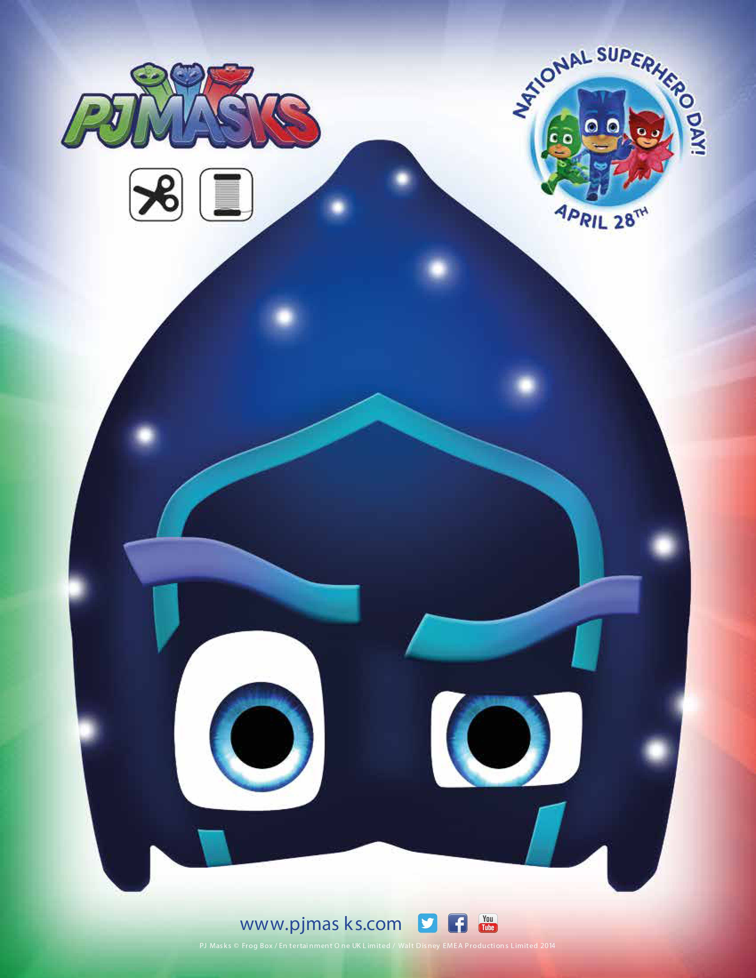 PJ Masks Party Printables Night Ninja Mask For FREE Via Mandys